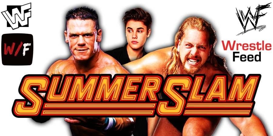 John Cena Justin Bieber Big Show Paul Wight WWE SummerSlam Match WrestleFeed App