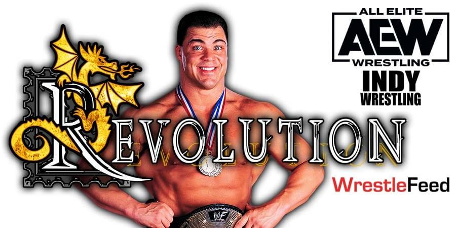 Kurt Angle AEW Revolution 2021 PPV WrestleFeed App