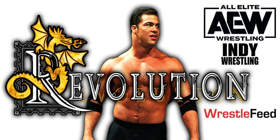 Kurt Angle AEW Revolution 2021 WrestleFeed App