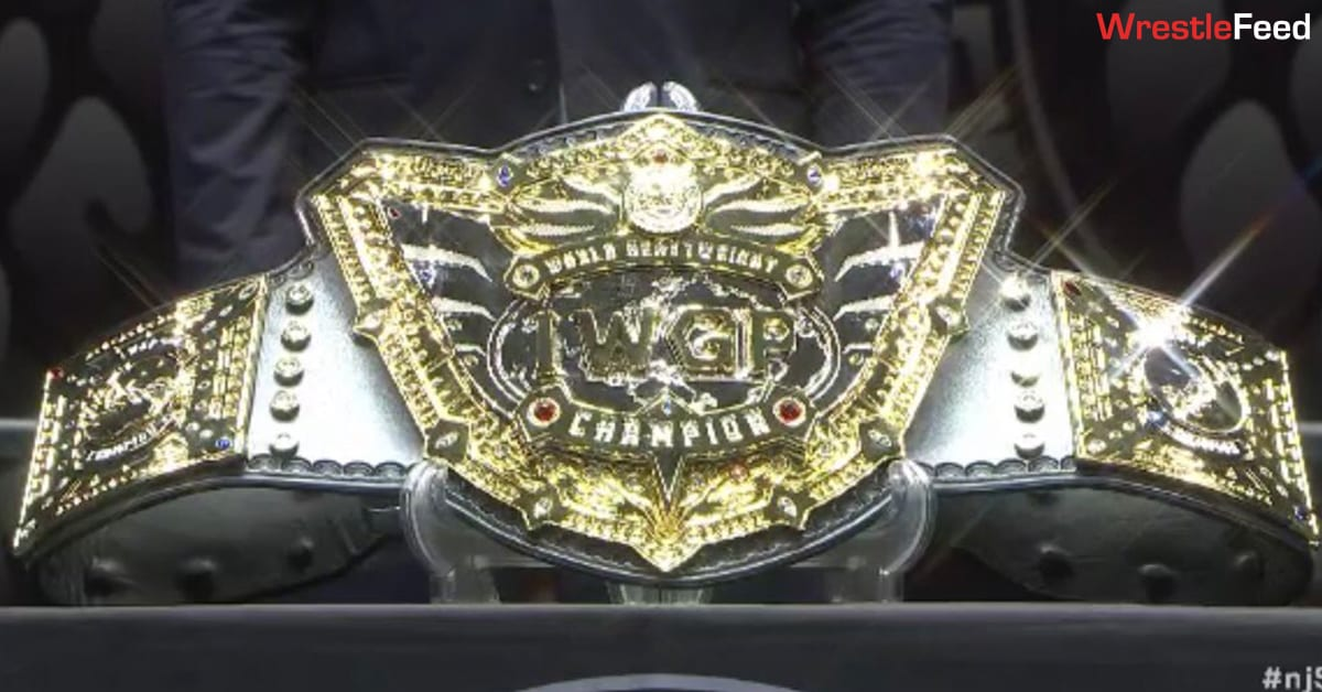 NJPW New Japan Pro Wrestling IWGP World Heavyweight Championship Title Belt March 2021 WrestleFeed App