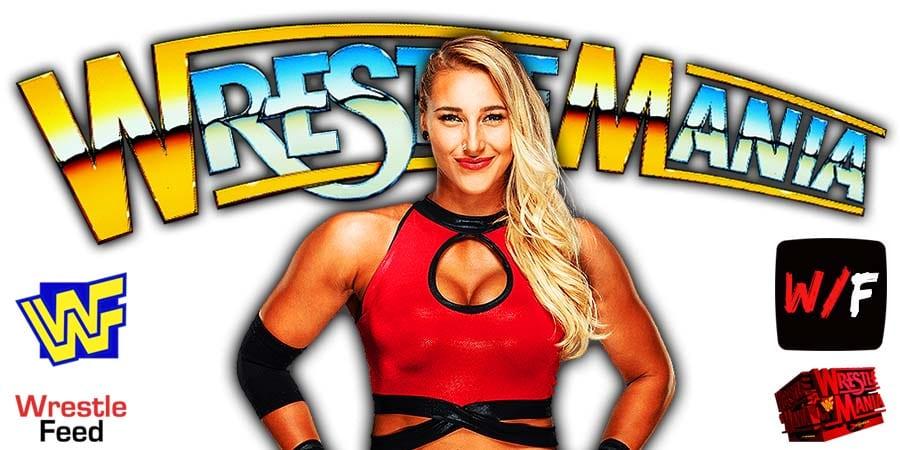 Rhea Ripley WrestleMania 37 WrestleFeed App