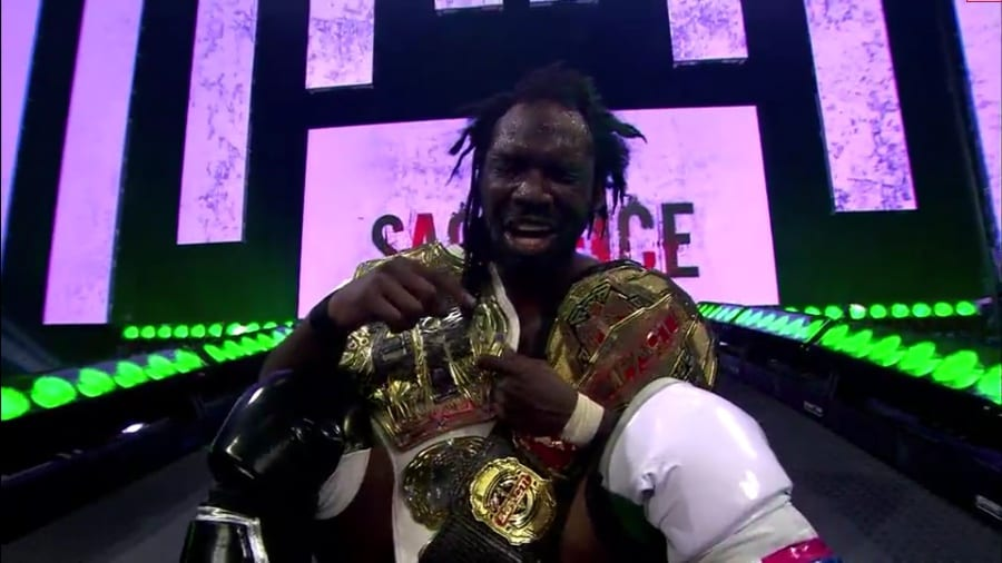 Rich Swann Becomes Undisputed Impact Wrestling World Champion TNA World Heavyweight Champion Sacrifice 2021