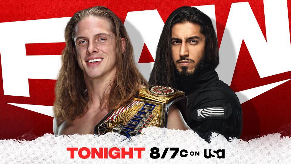 Riddle vs Mustafa Ali United States Championship Match RAW Graphic