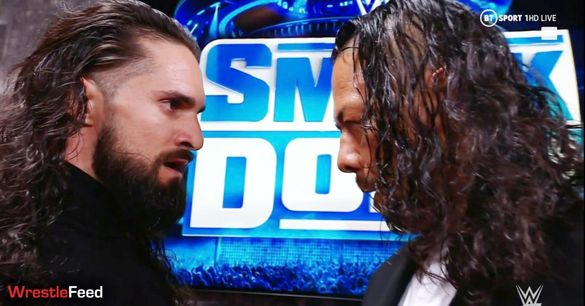 Seth Rollins Face To Face Shinsuke Nakamura WWE SmackDown WrestleFeed App