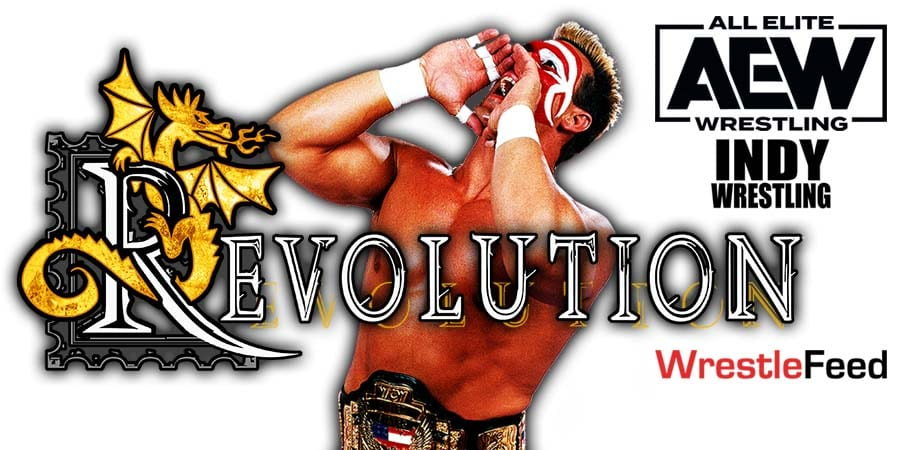 Sting AEW Revolution 2021 Cinematic Match WrestleFeed App