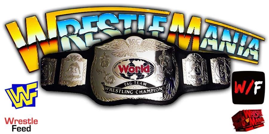 Tag Team Championship Match WrestleMania 37 WrestleFeed App
