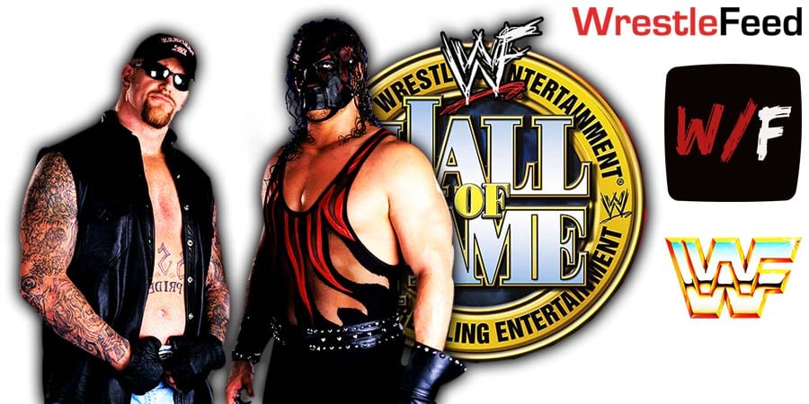 The Undertaker Kane WWE Hall Of Fame 2021 WrestleFeed App