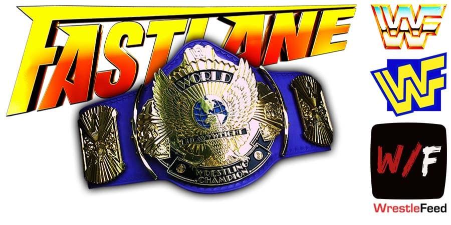 WWE Championship Fastlane WrestleFeed App