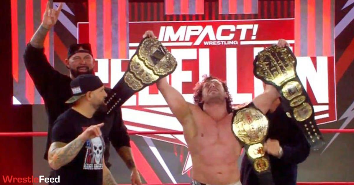 AEW World Champion Kenny Omega Wins Impact World Championship Title At Rebellion 2021 WrestleFeed App