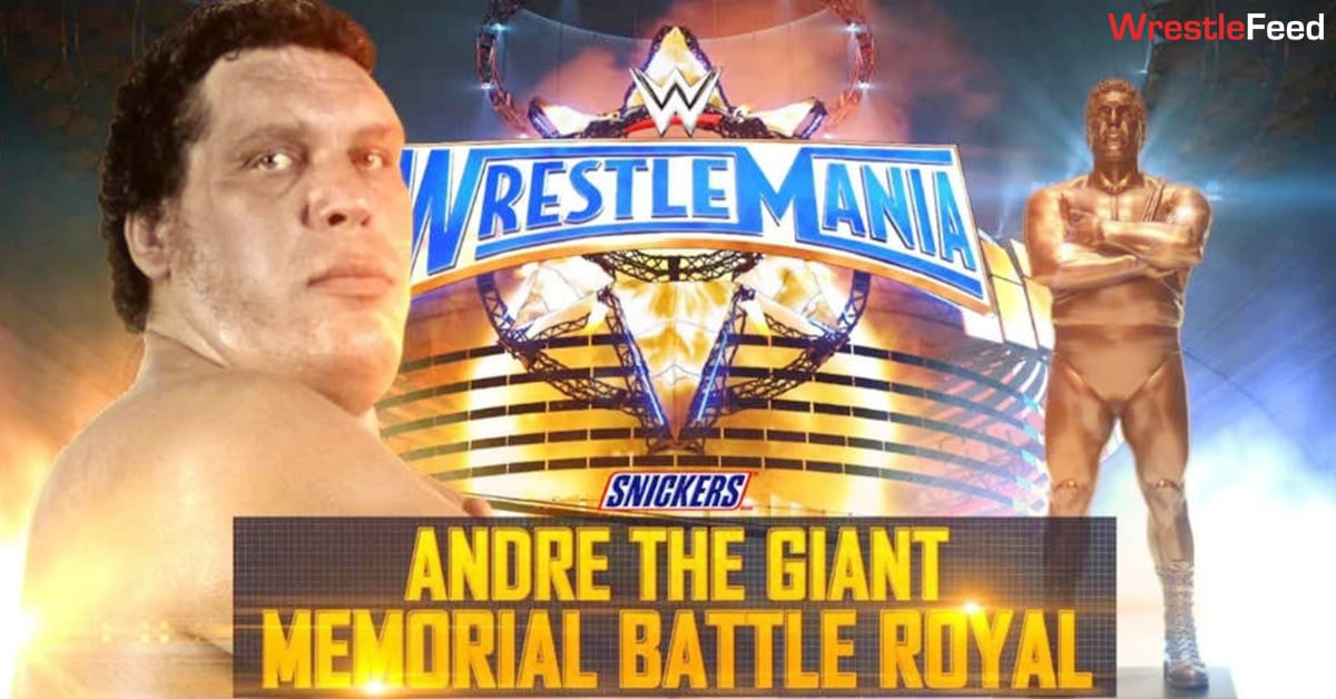 Andre The Giant Memorial Battle Royal WrestleMania 33 Graphic WrestleFeed App