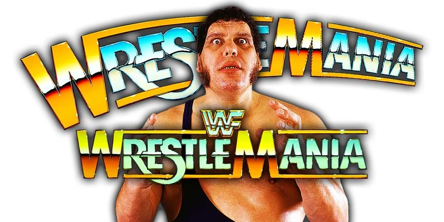 Andre The Giant WWF WWE WrestleMania