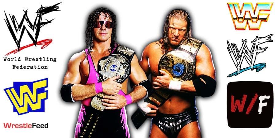 Bret Hart Triple H WWF Champion New Generation Era Attitude Era WrestleFeed App