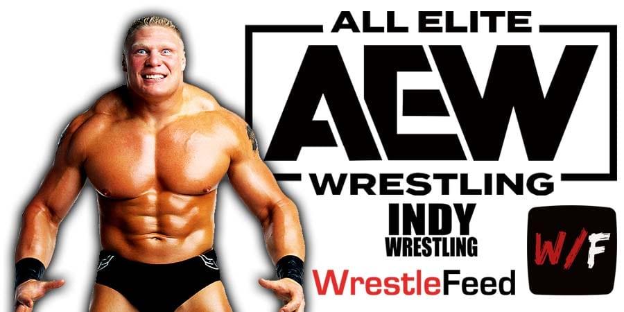 Brock Lesnar AEW All Elite Wrestling Article Pic 4 WrestleFeed App