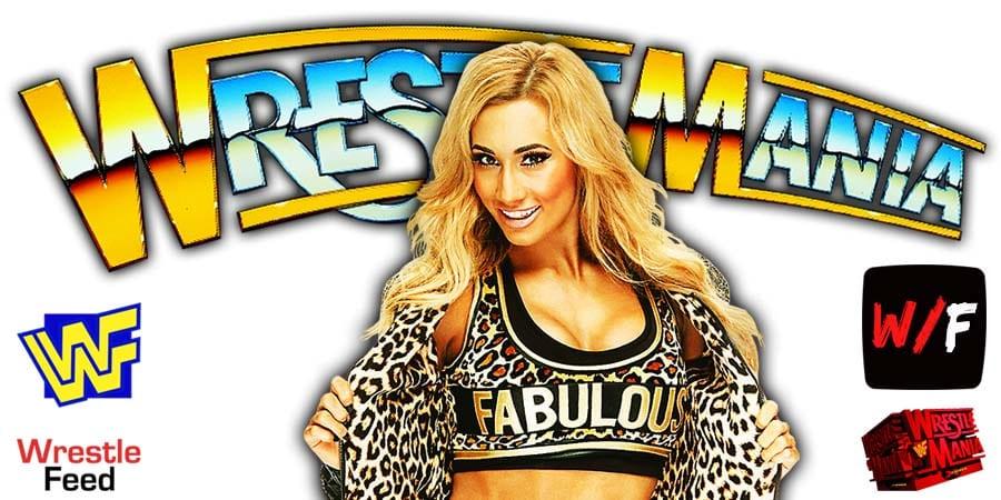 Carmella WWE WrestleMania 37 WrestleFeed App