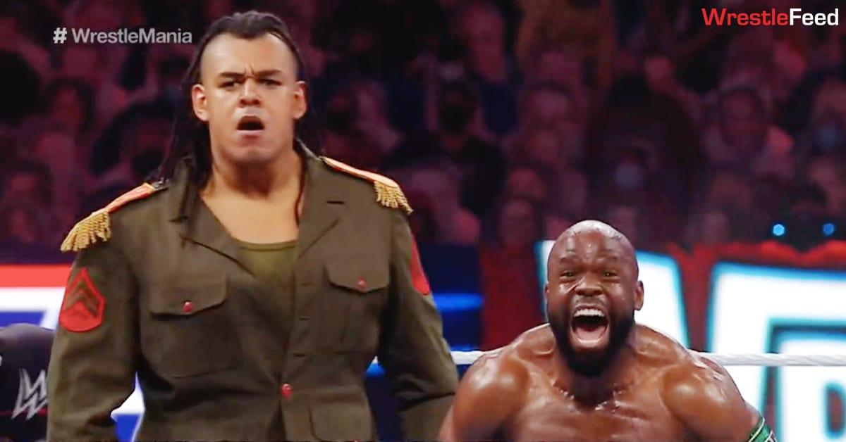 Dabba-Kato Babatunde Apollo Crews WrestleMania 37 WrestleFeed App