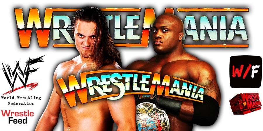 Drew McIntyre vs Bobby Lashley rumored to open Night 1 of WrestleMania 37 WrestleFeed App