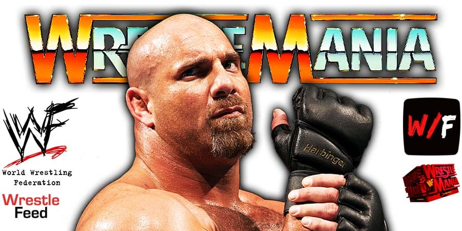 Goldberg WWE WrestleMania 37 WrestleFeed App