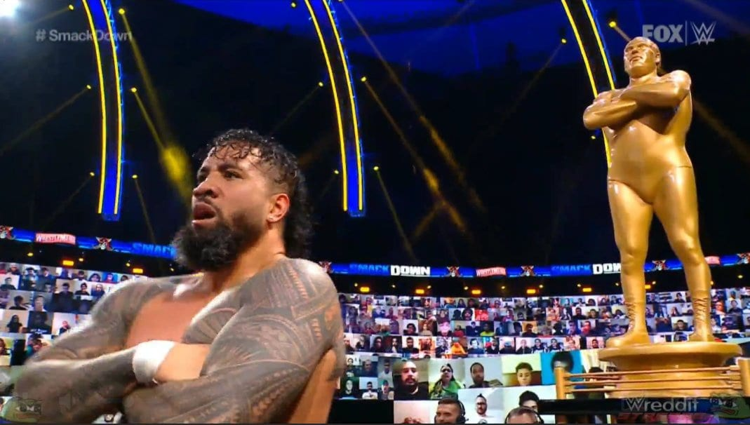 Jey Uso Wins 7th Annual Andre The Giant Memorial Battle Royal On SmackDown Before WrestleMania 37