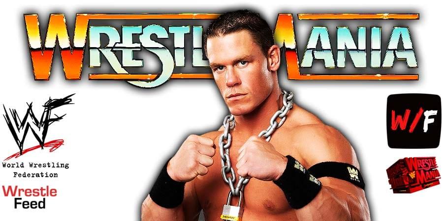 John Cena WWE WrestleMania 37 WrestleFeed App