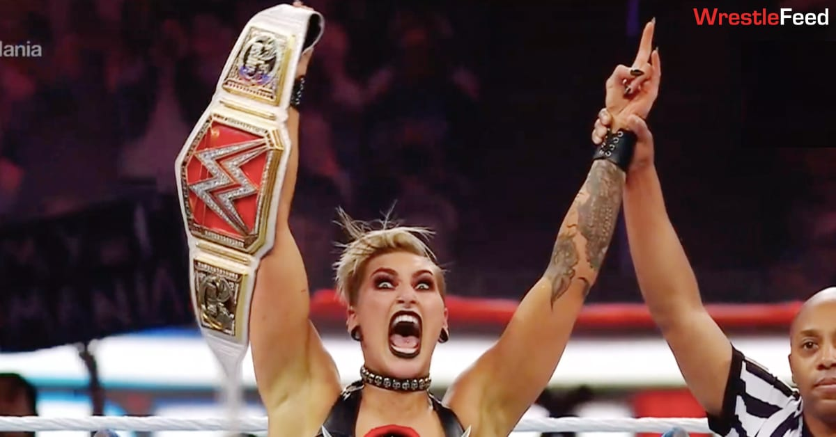 Rhea Ripley Wins RAW Women's Championship At WrestleMania 37 WrestleFeed App