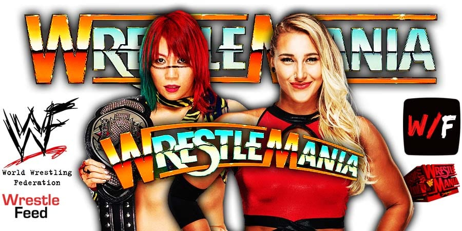 Rhea Ripley defeats Asuka at WrestleMania 37 WrestleFeed App
