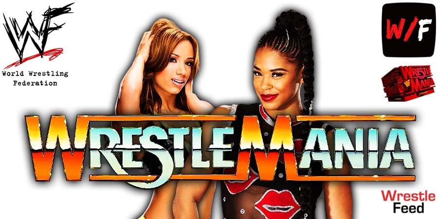 Sasha Banks vs Bianca Belair WrestleMania 37 Night 1 Main Event WrestleFeed App