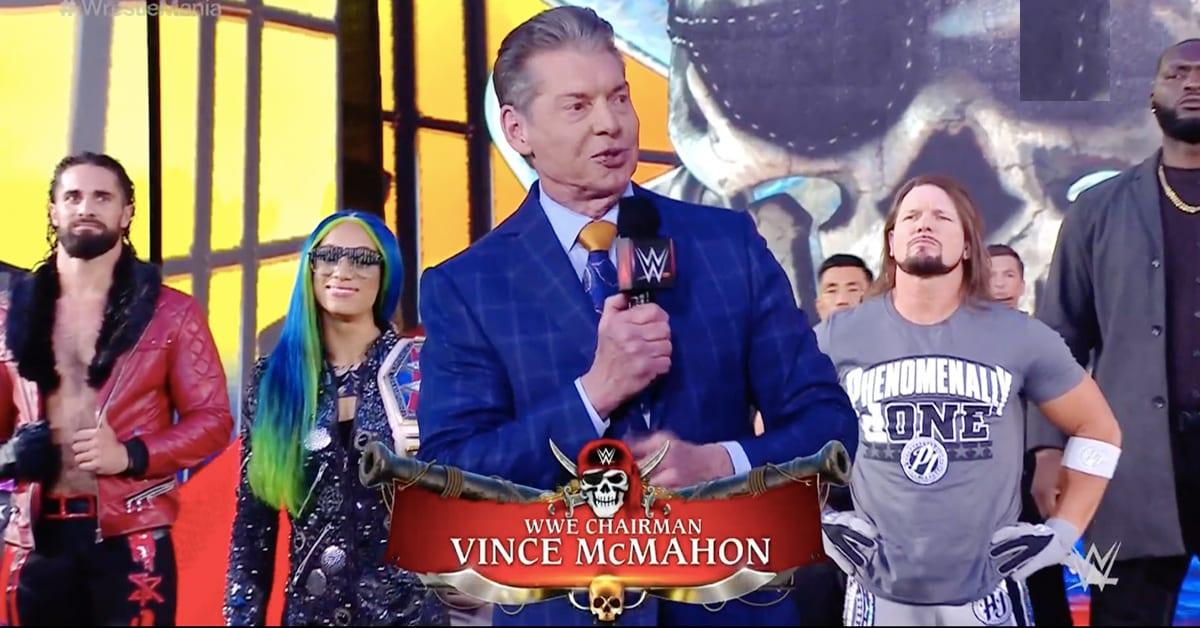 Vince McMahon Kicks Off WrestleMania 37