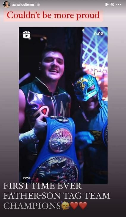 Aalyah Mysterio Comments On Dominik & Rey Mysterio Winning The SmackDown Tag Team Titles At WrestleMania Backlash