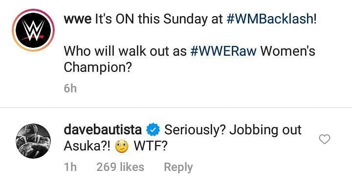 Batista Complains About WWE Jobbing Out Asuka