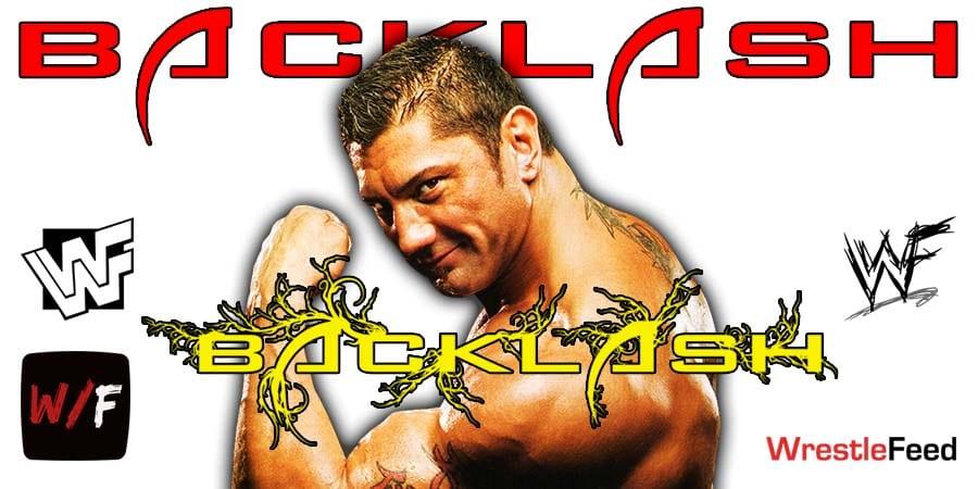 Batista WrestleMania Backlash 2021 WrestleFeed App