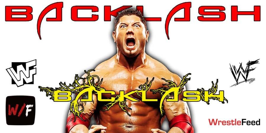 Batista WrestleMania Backlash WrestleFeed App