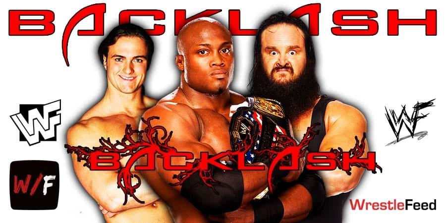 Bobby Lashley defeats Braun Strowman and Drew McIntyre at WrestleMania Backlash WrestleFeed App