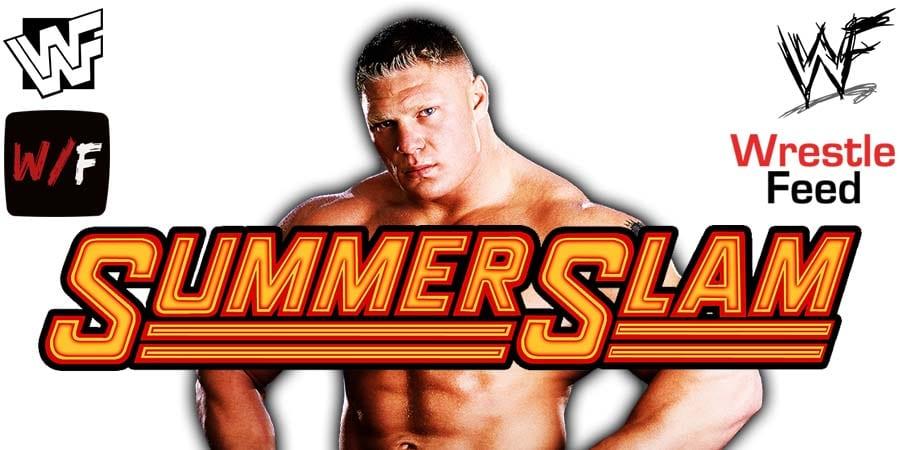 Brock Lesnar SummerSlam 2021 WrestleFeed App