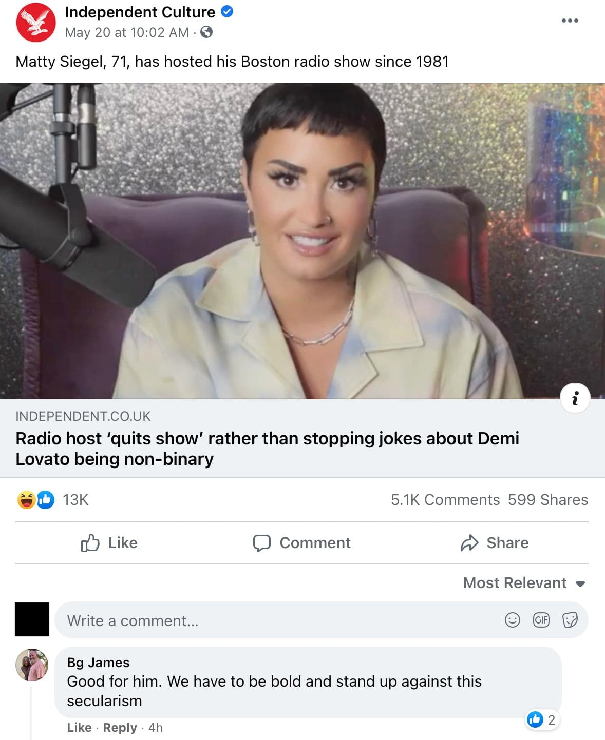 Controversial Statement By Road Dogg About Non-Binary Celebrity Demi Lovato