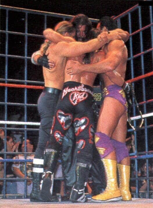 Curtain Call Incident WWF Kliq Hug 1996