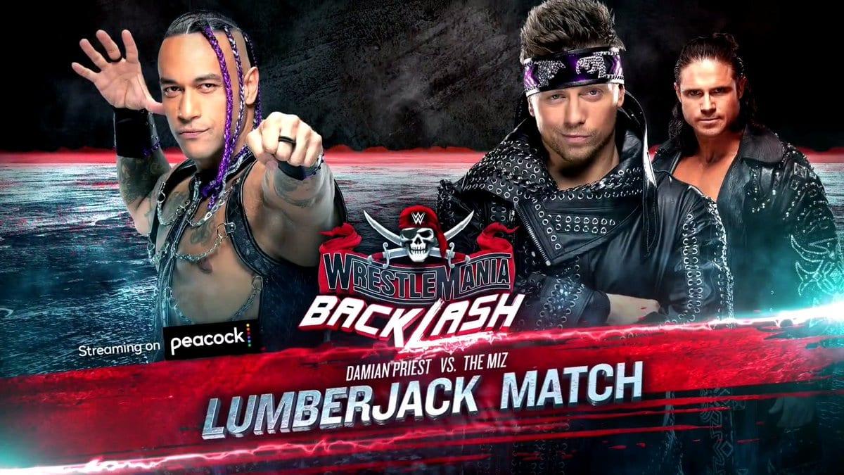 Damian Priest vs The Miz Lumberjack Match WrestleMania Backlash