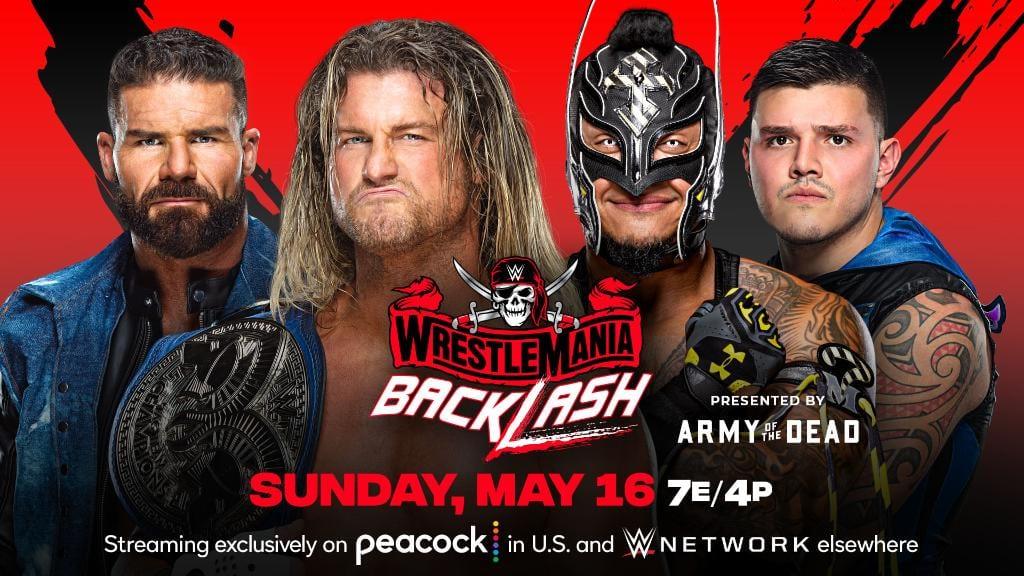 Dolph Ziggler Robert Roode vs Rey Mysterio Dominik Mysterio WrestleMania Backlash 2021 SmackDown Tag Team Championship Match