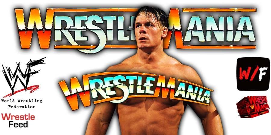 John Cena WrestleMania 38 WrestleFeed App