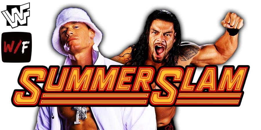 John Cena vs Roman Reigns SummerSlam 2021 WrestleFeed App