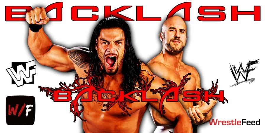 Roman Reigns defeats Cesaro at WrestleMania Backlash WrestleFeed App