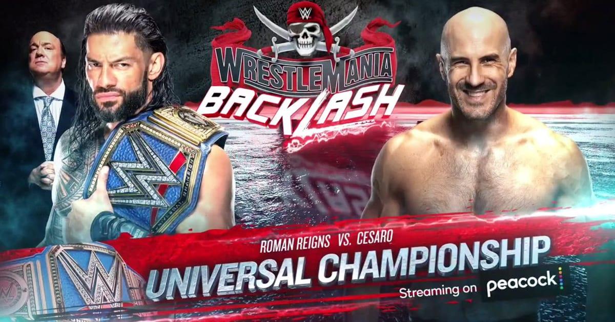 Roman Reigns vs Cesaro Universal Championship Match WrestleMania Backlash Poster