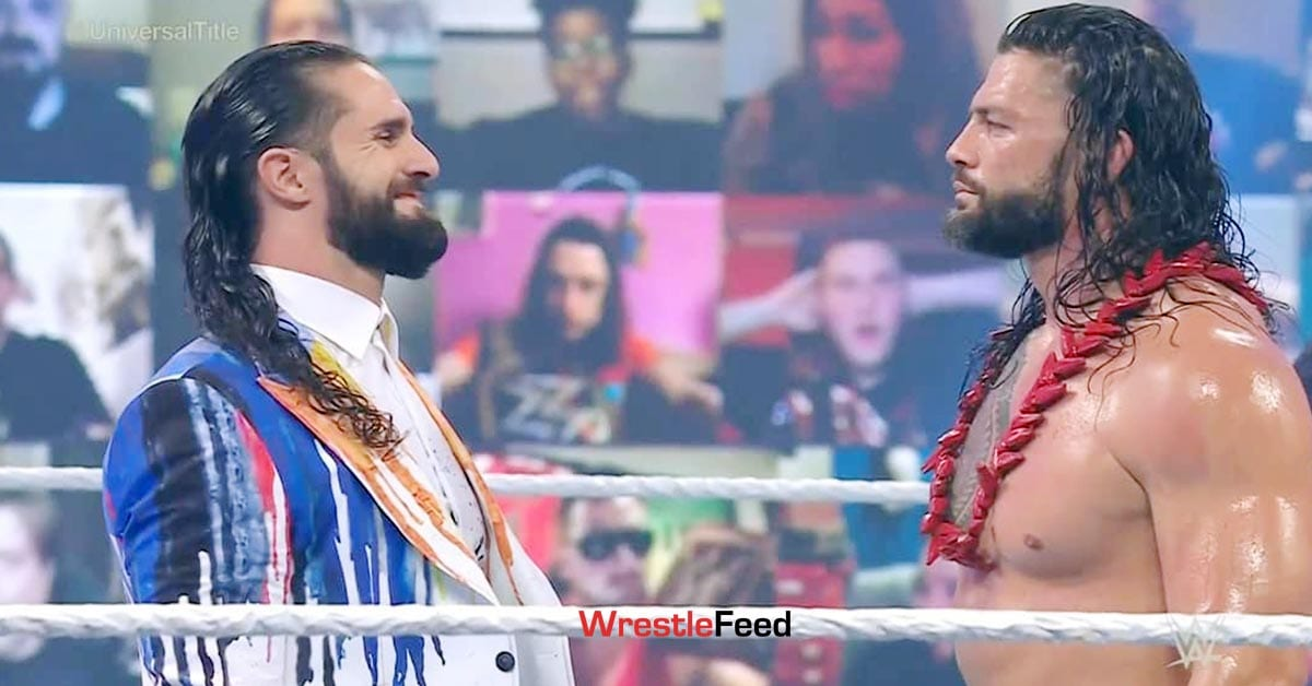 Seth Rollins Roman Reigns Face To Face WrestleMania Backlash WrestleFeed App