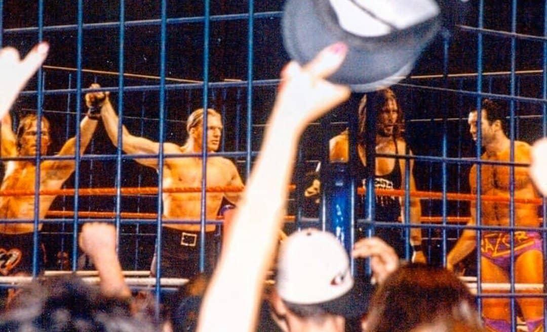 Shawn Michaels Triple H Kevin Nash Diesel Scott Hall Razor Ramon WWF MSG Curtain Call Rare Photo