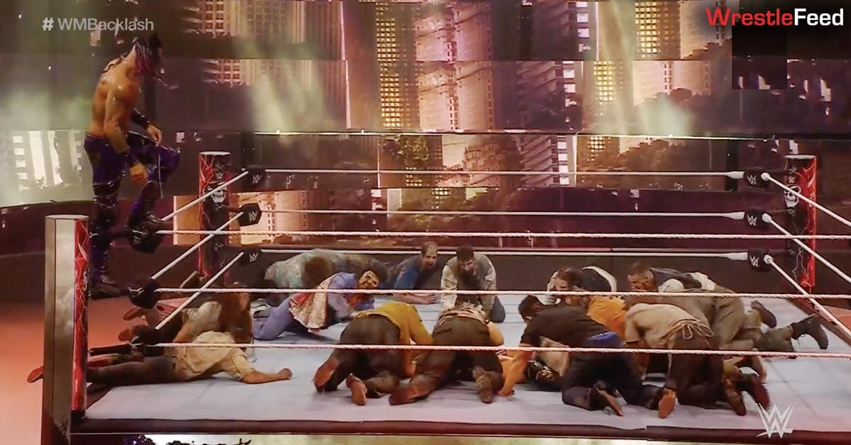 Zombies Enter The Ring At WWE WrestleMania Backlash WrestleFeed App