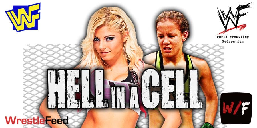 Alexa Bliss defeats Shayna Baszler at WWE Hell In A Cell 2021 WrestleFeed App