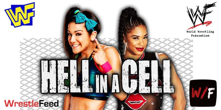 Bianca Belair defeats Bayley at Hell In A Cell 2021 WrestleFeed App