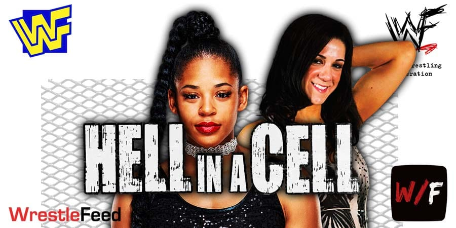 Bianca Belair vs Bayley Hell In A Cell 2021 WrestleFeed App