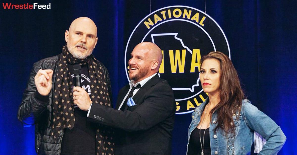 Billy Corgan Mickie James NWA Powerrr WrestleFeed App