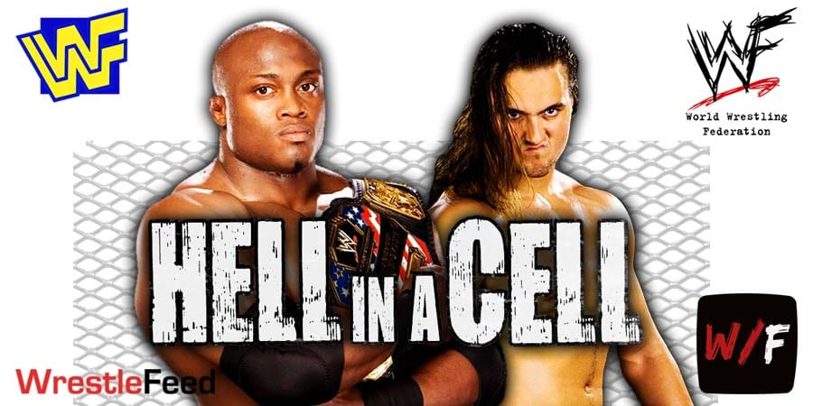 Bobby Lashley pins Drew McIntyre Hell In A Cell 2021 WrestleFeed App