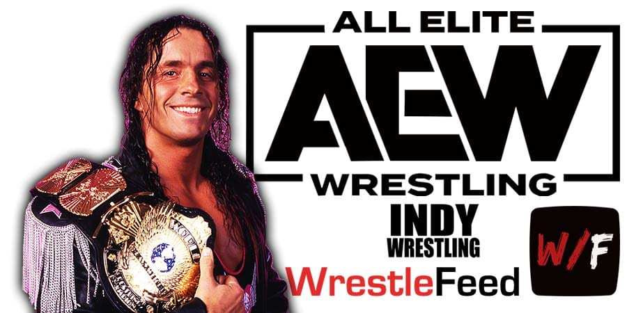 Bret Hart AEW Article Pic 2 WrestleFeed App